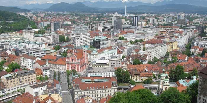首都リュブリャナ