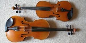ヴァイオリン(上) ヴィオラ(下)