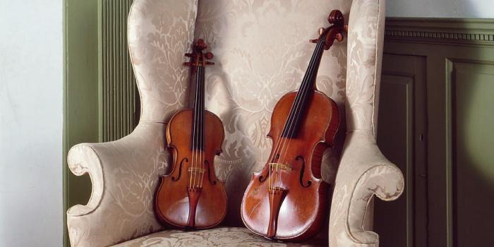ヴァイオリン(左) ヴィオラ(右)